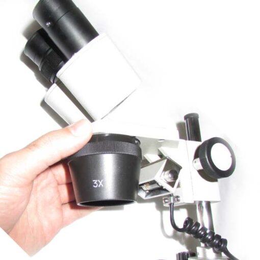 نمای عدسی های چشمی 2x 3x 4x لوپ 80 برابر