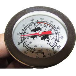 مشاهده درجه بندی ها و عقربه ترمومتر غذا 120 درجه ای