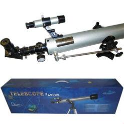 نمای سیستم فوکوس ، چشمی ، جوینده و بسته بندی تلسکوپ 60900 گالیله ای