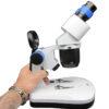 مشاهده ابعاد استریو میکروسکوپ ۲۰ و ۴۰ برابر مدل CS-5CAW